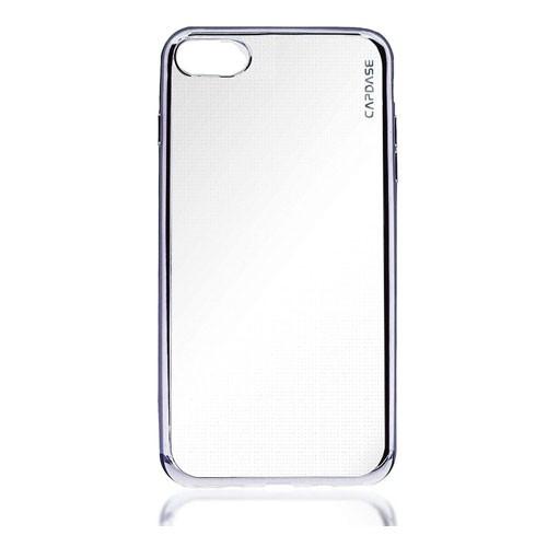 Capdase Soft Jacket iPhone 7 Clear Silver + Gripper - SJIH7-VE0S