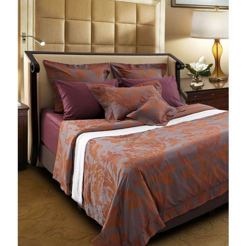 King Koil Full Set Mauricio Sprei & Bed Cover (200x200x40) - Violet