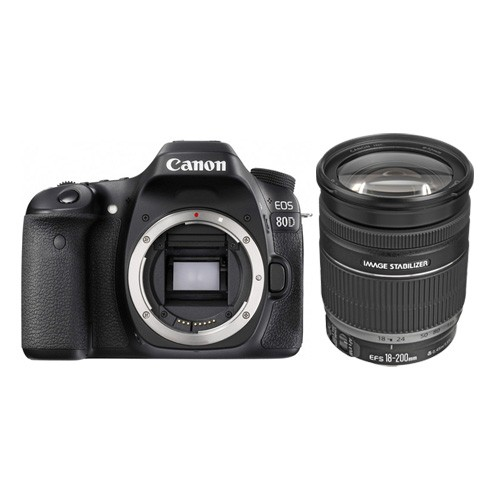 Canon EOS 80D Wifi DSLR Camera with lens 18-200mm IS