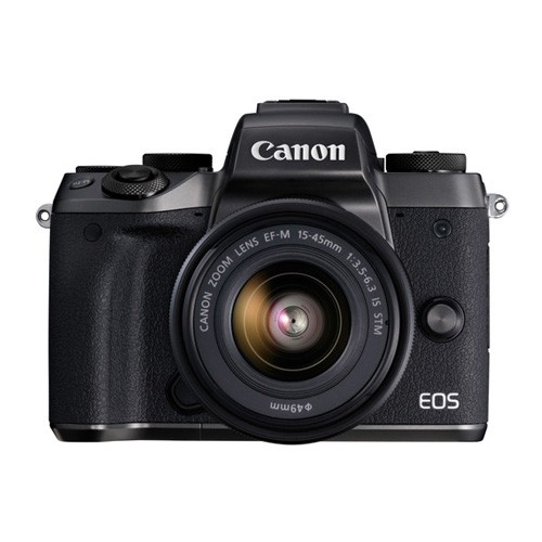Canon EOS M5 Mirrorless Digital Camera with 15-45mm Lens - Black