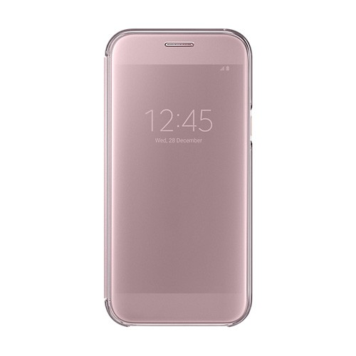 Samsung Clear View Cover For Galaxy A5 (2017 Edition) - Pink