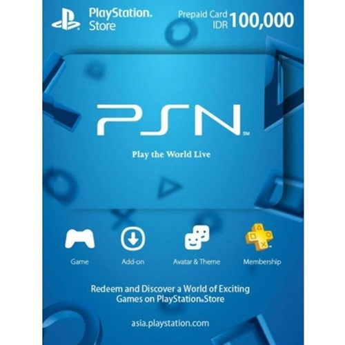 PSN Voucher Playstation Store Prepaid Card Psnid V100