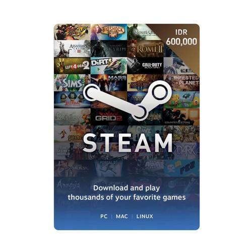 Steam Voucher Idr 600.000