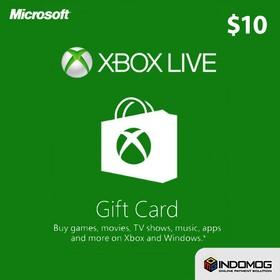 Xbox Live Gift Card Voucher 10 Dinomarket Belanja