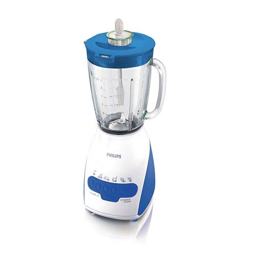 Philips Blender 2L Glass HR2116/30 - Blue