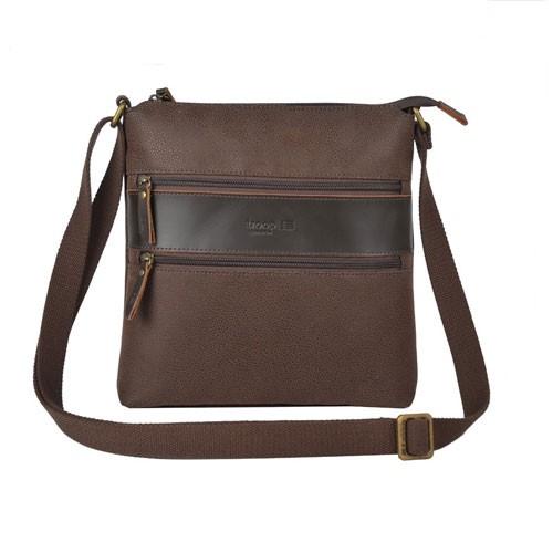 Troop London Leather Bag Q1036 - Brown