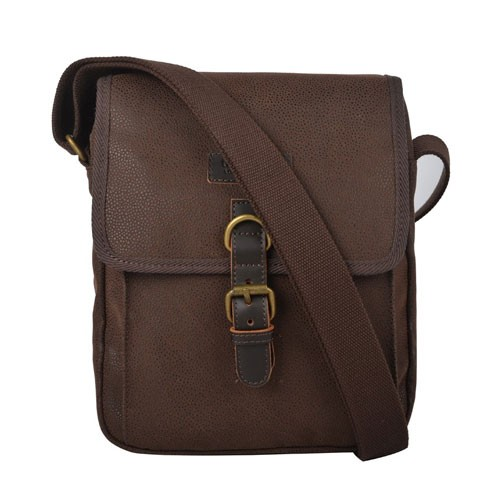 Troop London Leather Bag Q1045 - Brown