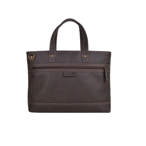Troop London Faux Leather Messenger Bag TLL002 - Brown