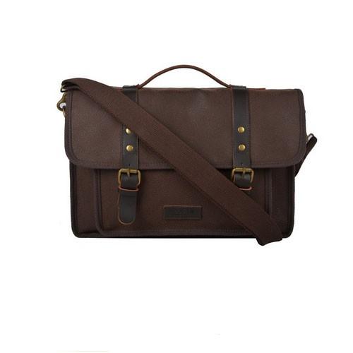 Troop London Leather Bag Q1025 - Brown