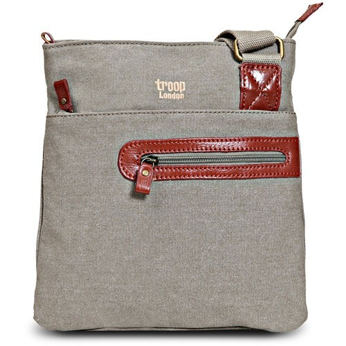 Troop London Canvas Bag TRP0227 - Khaki