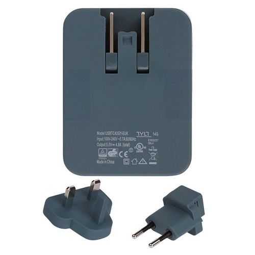 TYLT Wall 4.8A Travel Charger - Grey