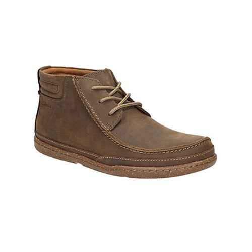 CLARKS TRAPELL TOP DARK BROWN LEA