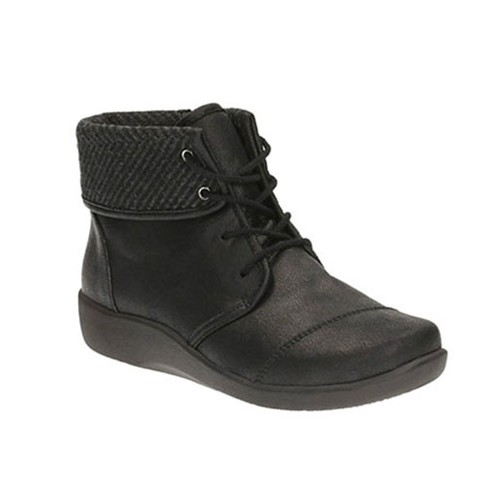 CLARKS SILLIAN FREY BLACK SYNTHETIC NUBUCK
