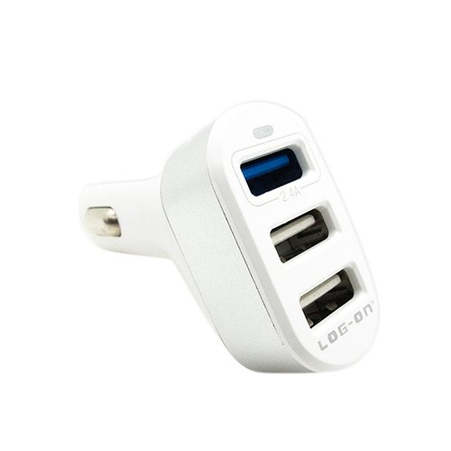 Log On 3 USB Car Charger Trigen 4.4A LO-3S - White