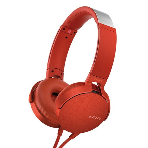 Sony Extra Bass Headphones MDR-XB550AP - Red