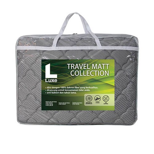The Luxe Travelling Mattress 100 x 190 cm - Grey