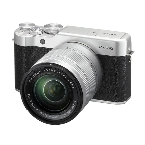 Fujifilm X-A10 Mirrorless Digital Camera with 16-50mm Lens - Silver