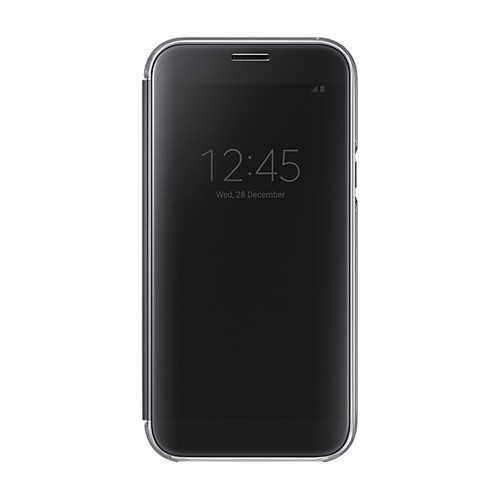 Samsung Clear View Cover For Galaxy A7 (2017) - Black