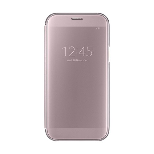Samsung Clear View Cover For Galaxy A7 (2017) - Pink