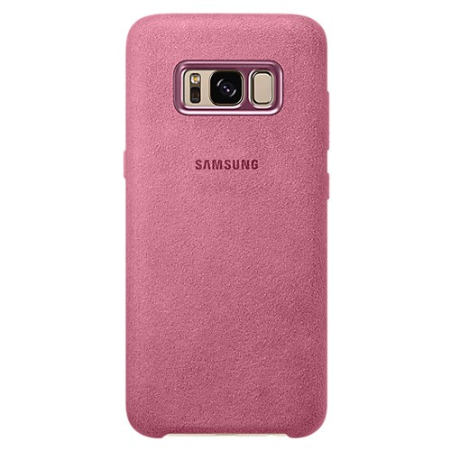Samsung Alcantara Cover For Galaxy S8 Plus - Pink