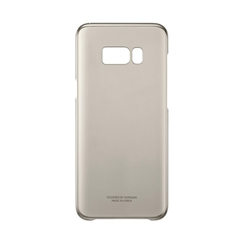 Samsung Clear Cover For Galaxy S8 - Gold