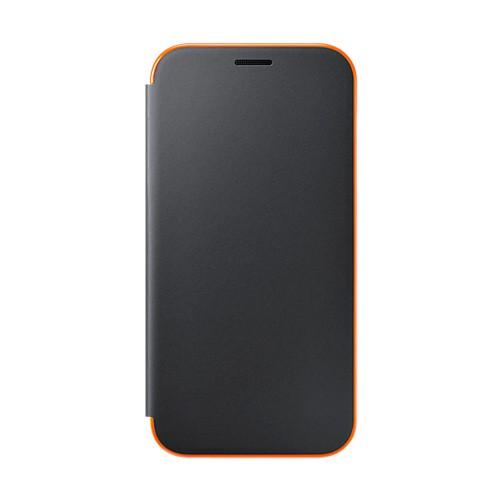 Samsung Neon Flip Cover For Galaxy A7 (2017) - Black