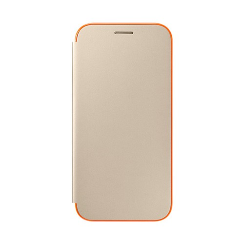 Samsung Neon Flip Cover For Galaxy A5 (2017) - Gold
