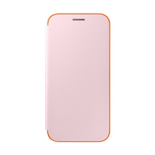 Samsung Neon Flip Cover For Galaxy A5 (2017) - Pink