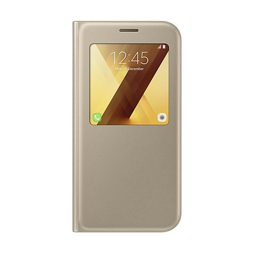 Samsung S View Standing Cover For Galaxy A7 (2017) - Gold