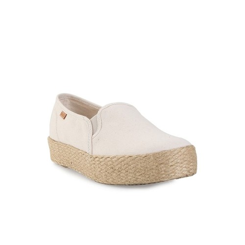 KEDS TRIPLE DECKER PIGMENT CANVAS JUTE WF56502 NATURAL