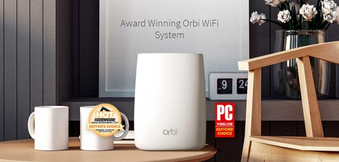Netgear Orbi Wireless Router AC3000 Tri-Band Wi-Fi System - RBK50