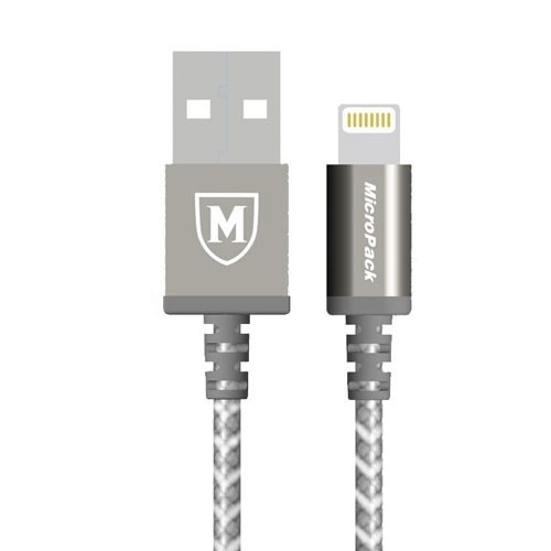 MicroPack MFI Lightning Cable i-601 - silver