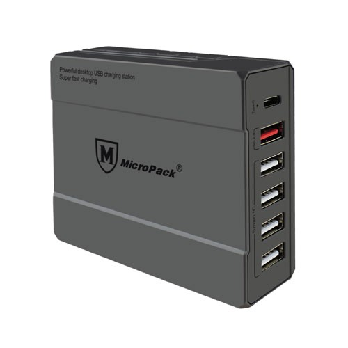 MicroPack USB Multiport Charger  MUC-6QC