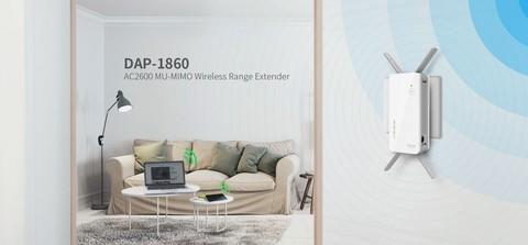 D-Link AC2600 MU-MIMO Wireless Range Extender DAP-1860 - White