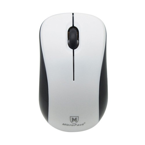MicroPack Mouse MP-766W + Mouse Pad - White Black
