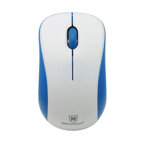 MicroPack Mouse MP-766W + Mouse Pad - White Blue