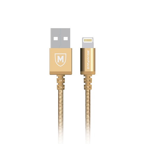 MicroPack MFI Lightning Data Cable i-100 - Gold