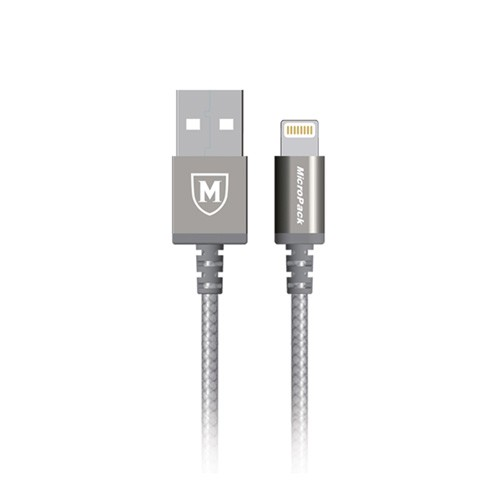 MicroPack MFI Lightning Data Cable i-100 - Grey
