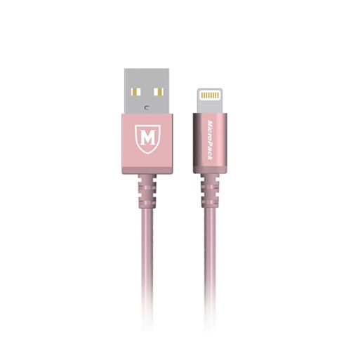 MicroPack MFI Lightning Data Cable i-100 - Rose Gold