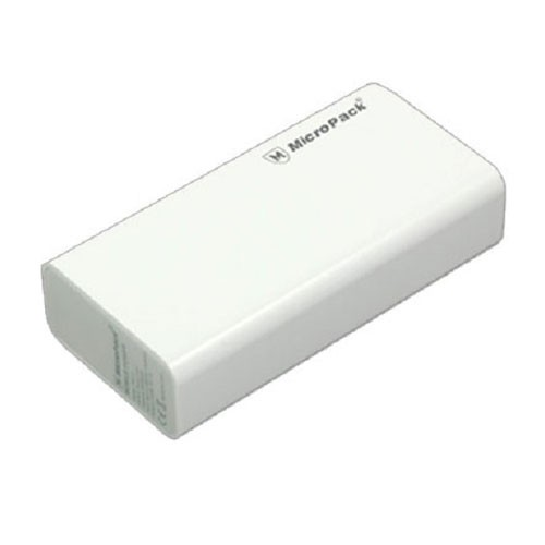 MicroPack Power Bank 6000 mAh P60-2 - White