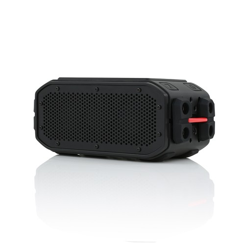 BRAVEN BRV PRO Waterproof Bluetooth Speaker with Solar Panel - Charcoal/ Red