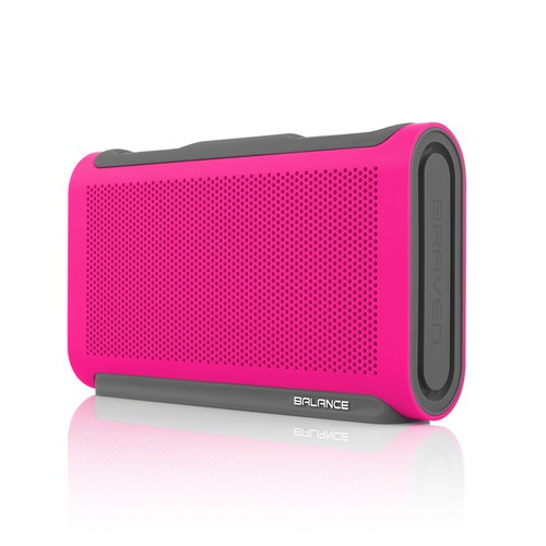 BRAVEN Balance Portable Wireless Bluetooth Speaker - Raspberry