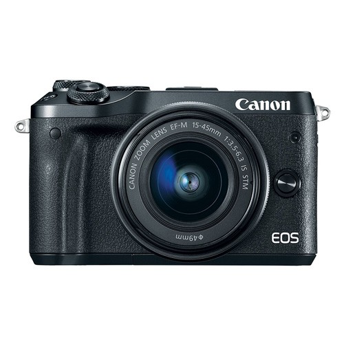 Canon EOS M6 Mirrorless Digital Camera with EF-M15-45mm Lens - Black