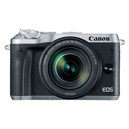 Canon EOS M6 Mirrorless Digital Camera with EF-M 18-150mm Lens - Silver