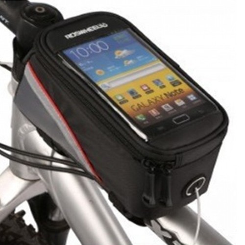 Roswheel Cycling Bags Waterproof for Smartphone 4.8 inch- Black