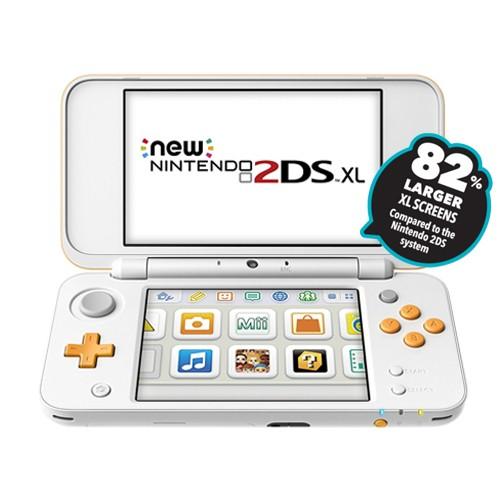 NEW Nintendo 2DS XL + Metroid Game - White Orange