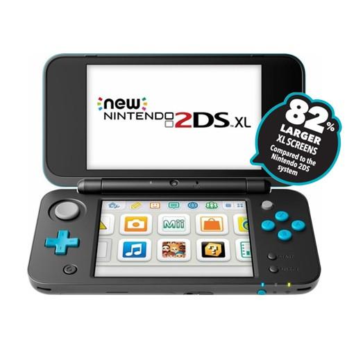 NEW Nintendo 2DS XL + Metroid Game - Black Blue