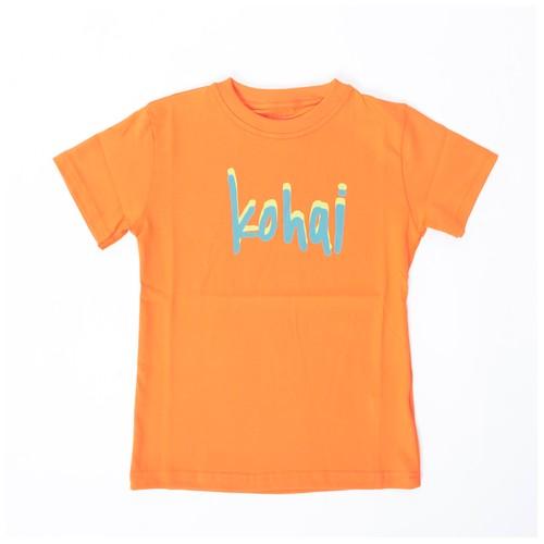 KOHAI APP017-80S TEXT TEE.ORANGE
