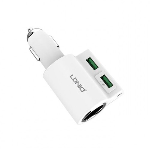 LDNIO 4.2A Dual USB Car Charger with Lighter CM10