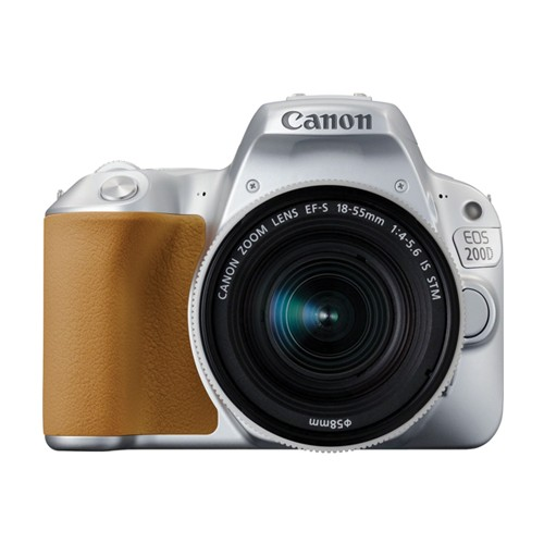 Canon DSLR Camera EOS 200D with EF-S 18-55mm Lens - Silver